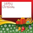 2012 vector christmas card with socks — 图库矢量图片
