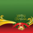 2012 vector christmas card with bells — 图库矢量图片