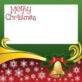 Tarjeta de navidad 2012 vector con campanas — Vector de stock