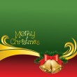 2012 vector christmas card with bells — Stock Vector #7587767