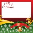 2012 vector christmas card with bells — Stockvectorbeeld