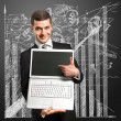 Businessman With Open Laptop In His Hands — Stock Photo #7678737