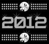 Elmas numaraları 2012 — Stok Vektör