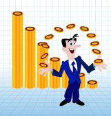 Money juggler — Stock Vector