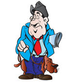 Männer mit hund — Stockvektor