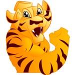 Tiger mascot — Stock Vector