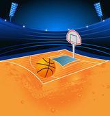Basketball sport stadium — Stock Vector
