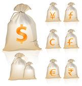Money symbols — Stock Vector