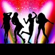 Dancing girls — Stock Vector #7693706