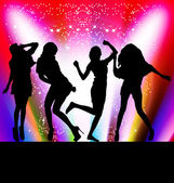 Dancing girls — Stock Vector