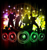 Singing and dancing — Stock Vector