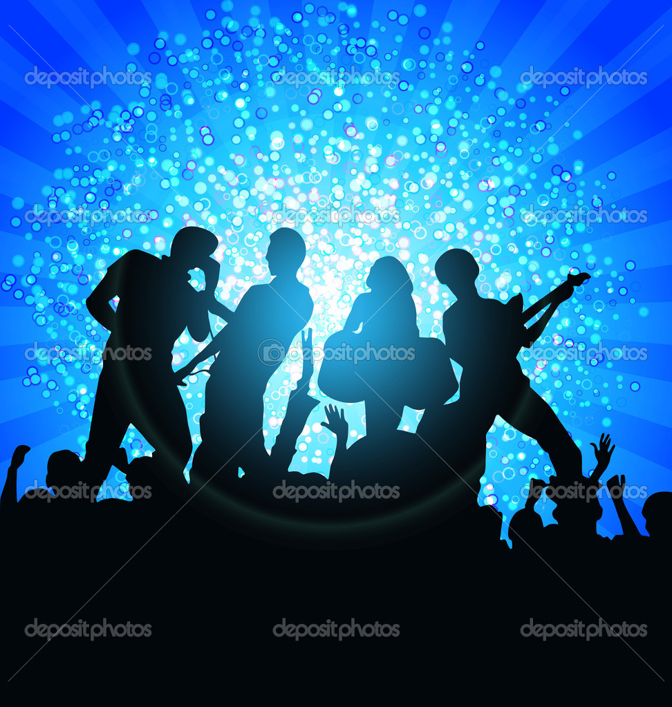 Bstract Music background for discoteque night event — Stock Vector #7693863