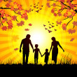 Royalty-Free Stock Vector Image: Autumn and family