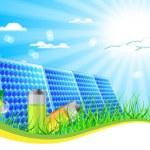 Solar panel — Stock Vector #7859183