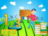 学校儿童 — 图库矢量图片