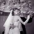 Bride and groom dancing the first dance — Stock Photo