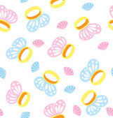 Butterfly Ring Pattern — Stock Vector