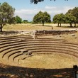 Greek amphitheater Paestum - Foto Stock