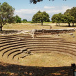 Greek amphitheater Paestum — 图库照片