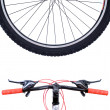 Wheel mountain bike — Stock Photo