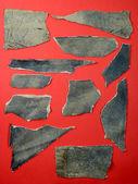 Leather scraps — Stock Photo