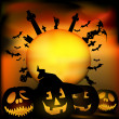 Halloween scene - Stock Vector