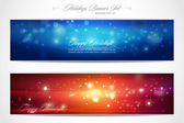 Winter Holidays web banner set — Stok Vektör