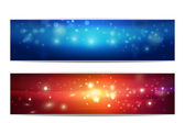 Holidays banner set — Stock Photo