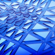 Blue 3d abstraction background - Stock Photo