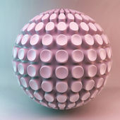 Pink 3d sphere abstraction — Stock Photo