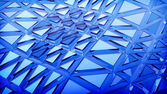 Blue 3d abstraction background — Stock Photo