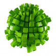 Stock Photo: Green 3D abstraction