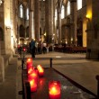 Stock Photo: Gothic cathedral interior