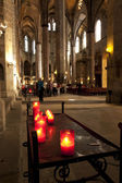 Gothic cathedral interior — Stock Photo