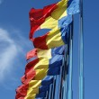 Stock Photo: Flags of Romania