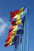 Flags of Romania — Stock fotografie