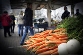 Carrots at farmers market — Stock fotografie