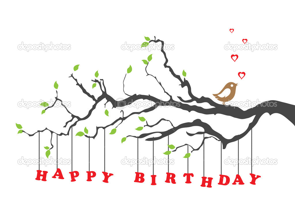 Happy birthday card with bird — Stock Vector © lina_s #7603992: depositphotos.com/7603992/stock-illustration-happy-birthday-card...