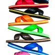 Side view of flip flops with isolated on white — Stock Photo