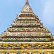 Ancient stupa at Wat Pho in Bangkok , Thailand — Stock Photo