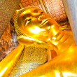 Big Golden Reclining Buddha,Wat Pho,Bangkok - Stock Photo