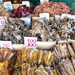 Price of Dried Squid in Bangkok Thailand (vertical) — Stock Photo