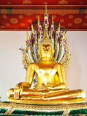 Statue of buddha at Wat Pho , Bangkok,Thailand — Stock Photo