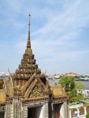 View from Top of Wat Arun Temple in Bangkok , Thailand — 图库照片