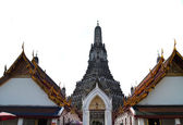 Isolated on white of Wat Arun , Bangkok — 图库照片