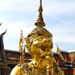 Stock Photo: Golden Statue gaurd giant Wat PhrKaew