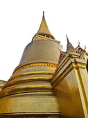 Golden Pagoda Isolated on white background — Stock Photo