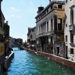 Venice 's Grand Canal with blue sky — Foto Stock