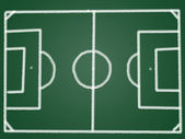 Tactic football field on blackboard — Stock Photo