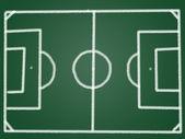 黒板に戦術サッカー フィールド — ストック写真